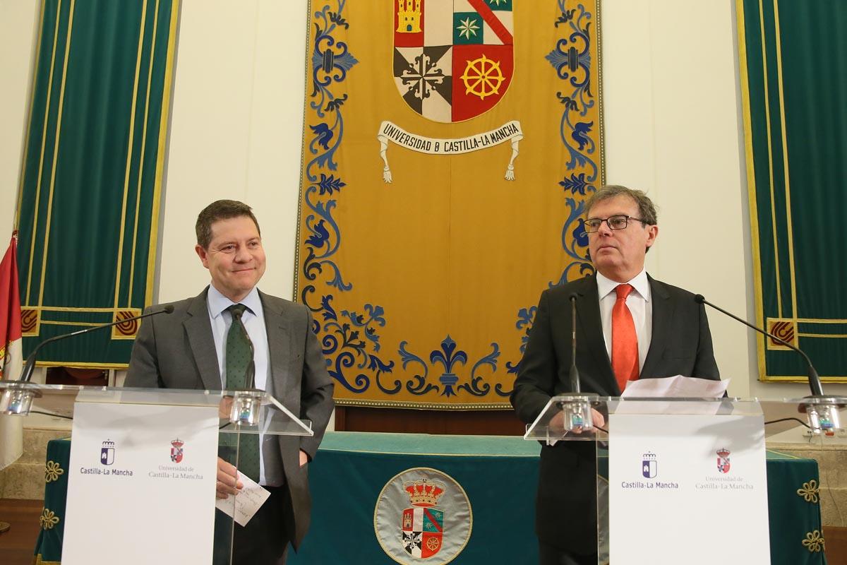 Emiliano García-Page y Miguel Ángel Collado.