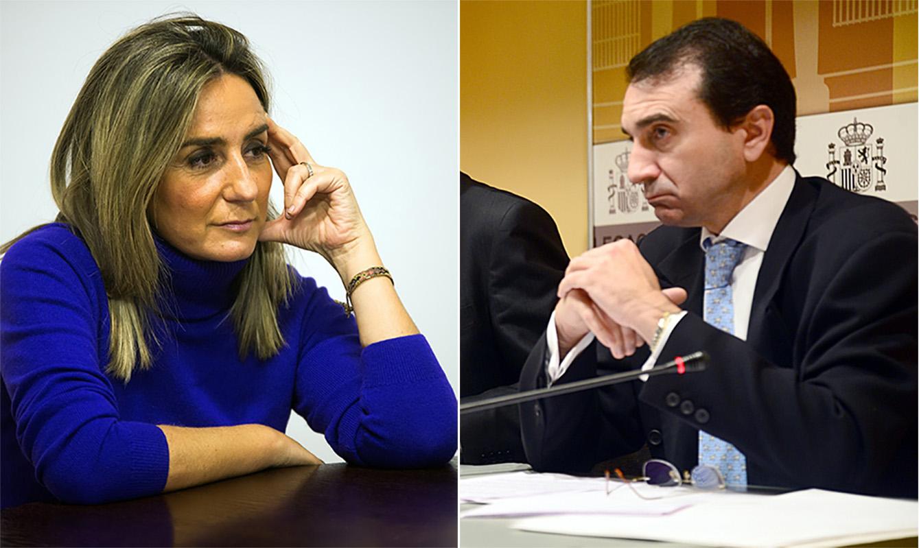 Milagros Tolón y MIguel Antolín.