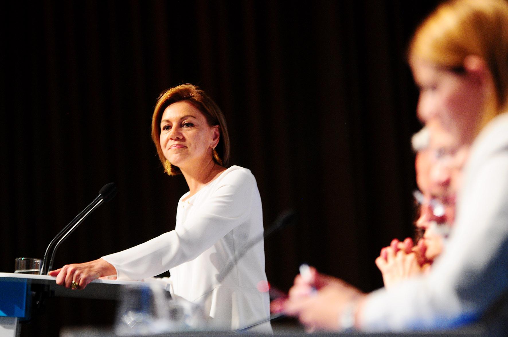 Cospedal interviene en el Congreso Provincial del PP de Toledo. La Manada