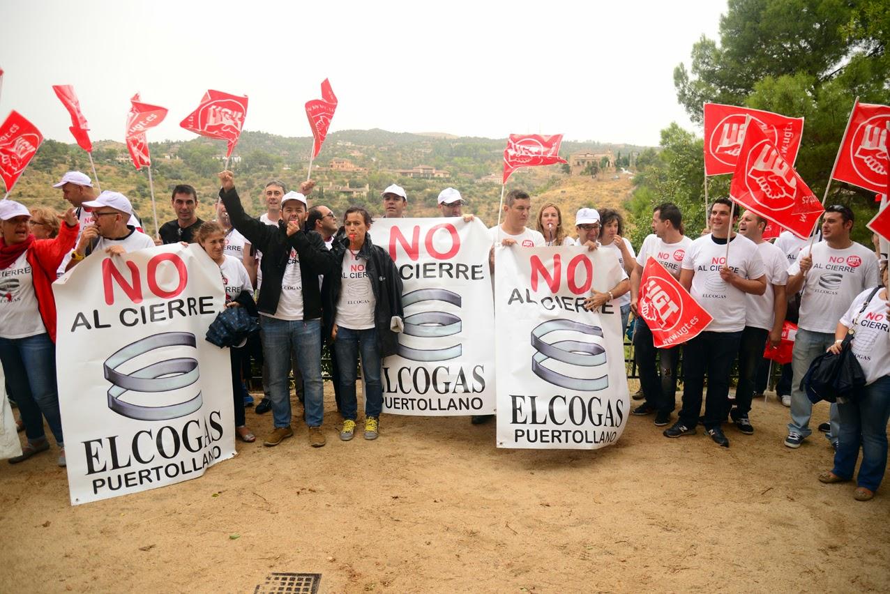 Manifestación de los trabajadores de Elcogas