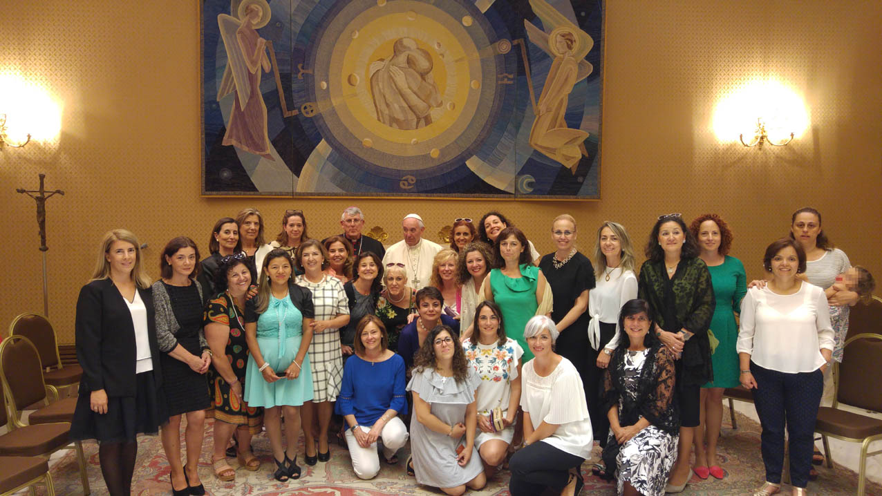 Audiencia del Papa a mujeres separadas de Toledo.