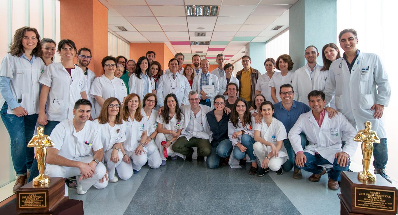 Integrantes del Servicio de Oftalmología de Hospital Mancha Centro de Alcázar de San Juan.