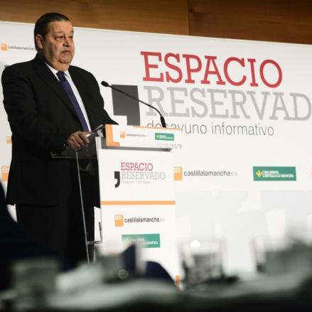 El presidente de las Cortes de Castilla-La Mancha y secretario de Organización del PSOE de CLM, Jesús Fernández Vaquero.