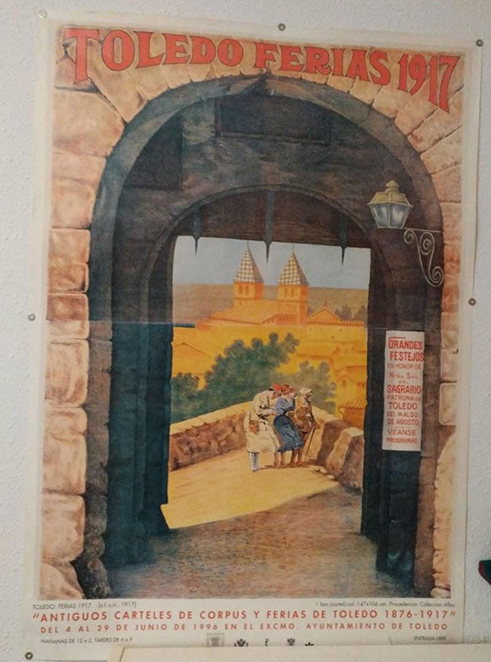 Cartel de la Feria de Toledo de 1917, hace un siglo