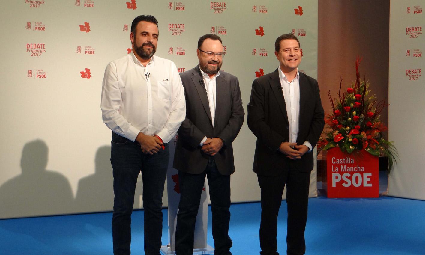 De izquierda a derecha, José Luis Blanco, Ismael Barrios y Emiliano García-Page.