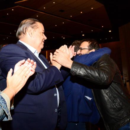 La imagen del Congreso del PSOE y del relevo: Page, Gutiérrez y Vaquero