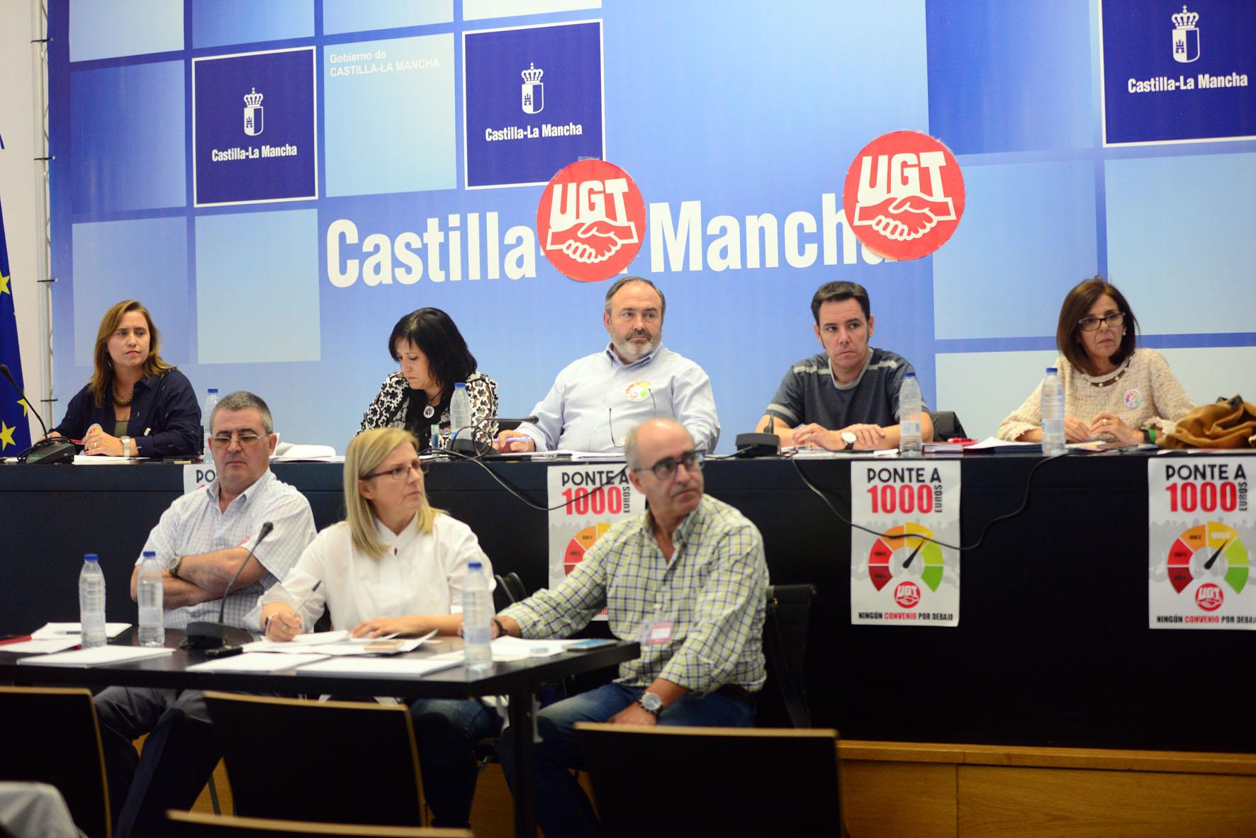 Pedrosa en el Comité Regional UGT.