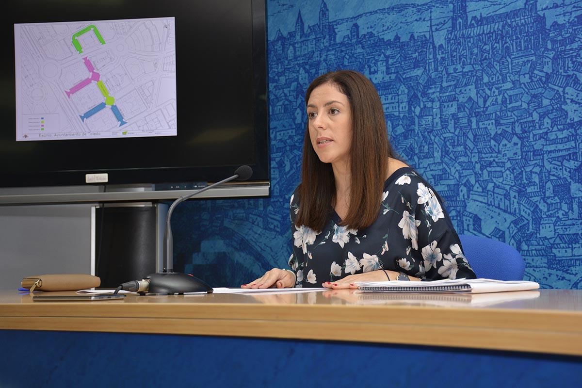 Noelia de la Cruz ha informado de las obras de asfaltado en Toledo