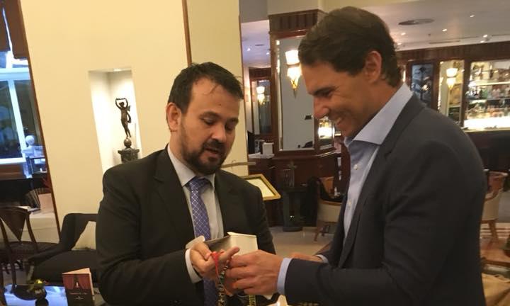 Rafa Nadal y Juan Ramón Amores