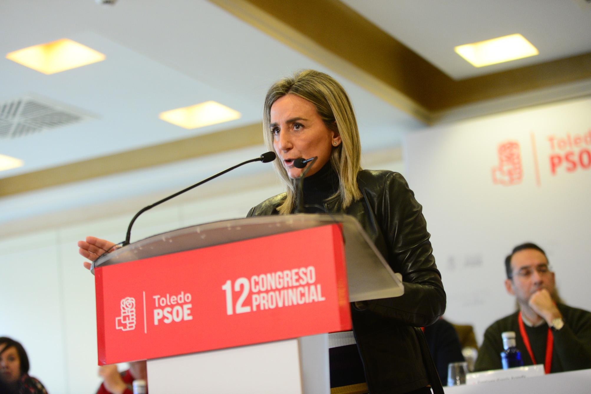 Milagros Tolón, en el Congreso del PSOE de Toledo