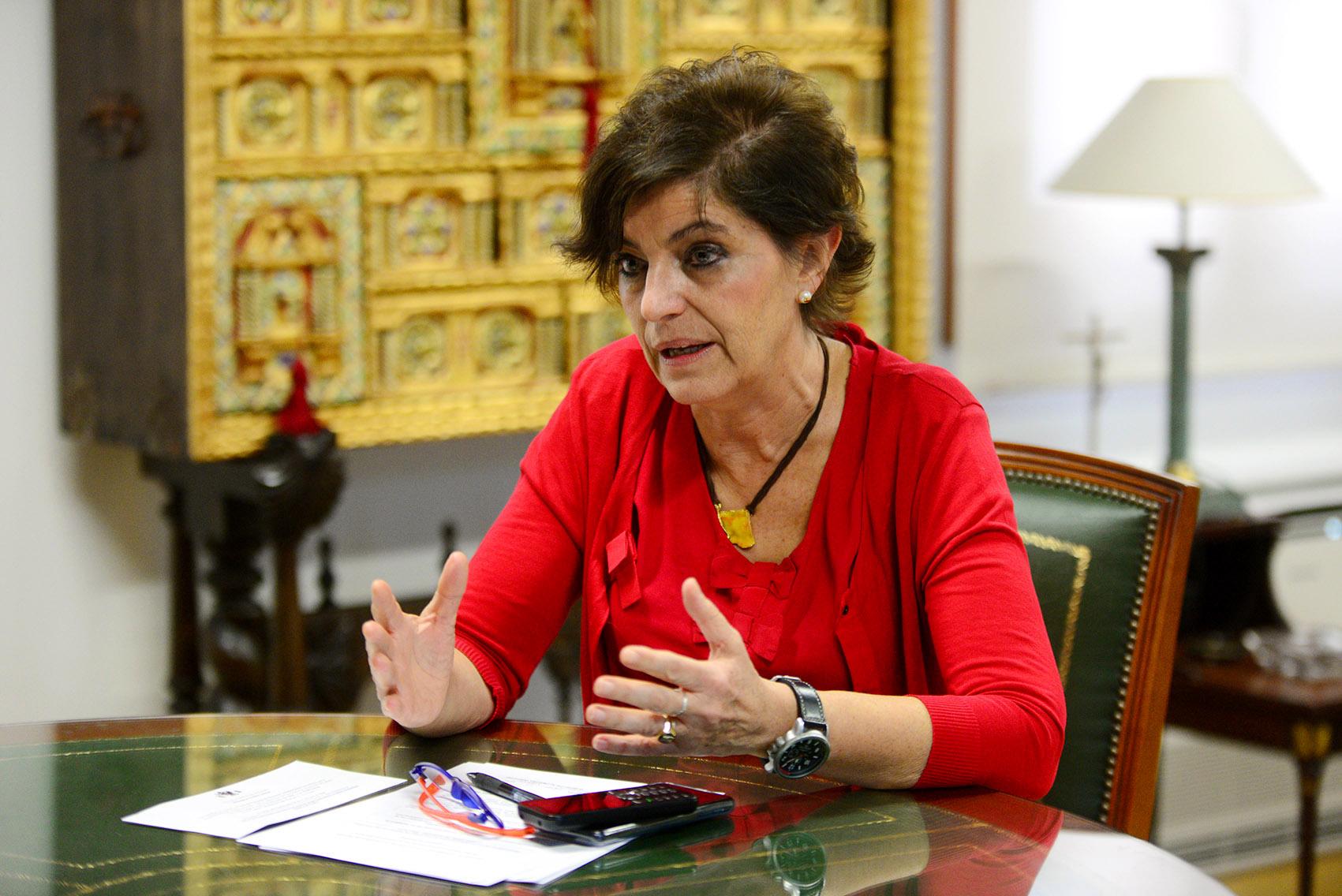 Natividad Laín, presidenta del Colegio de Médicos de Toledo.