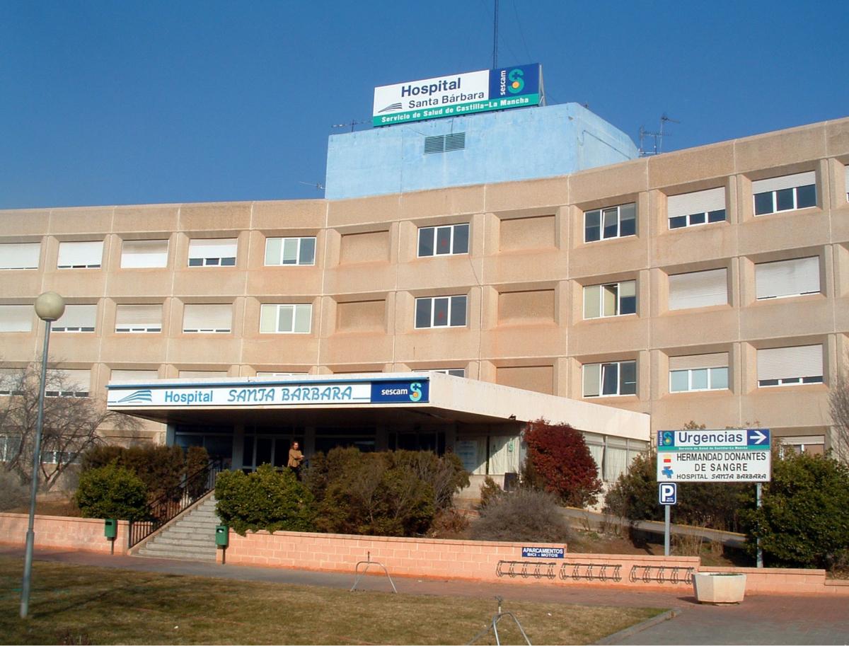 Hospital de Santa Bárbara, de Puertollano, hospital de Puertollano, donde ha sido trasladado el herido