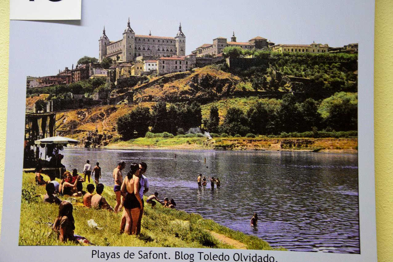 """La playa de Safont en Toledo. imagen de la exposición """"El Tajo, la asignatura pendiente"""""""