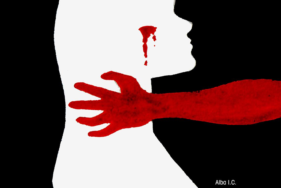 Ilustración de Alba Imedio C. sobre violencia de género