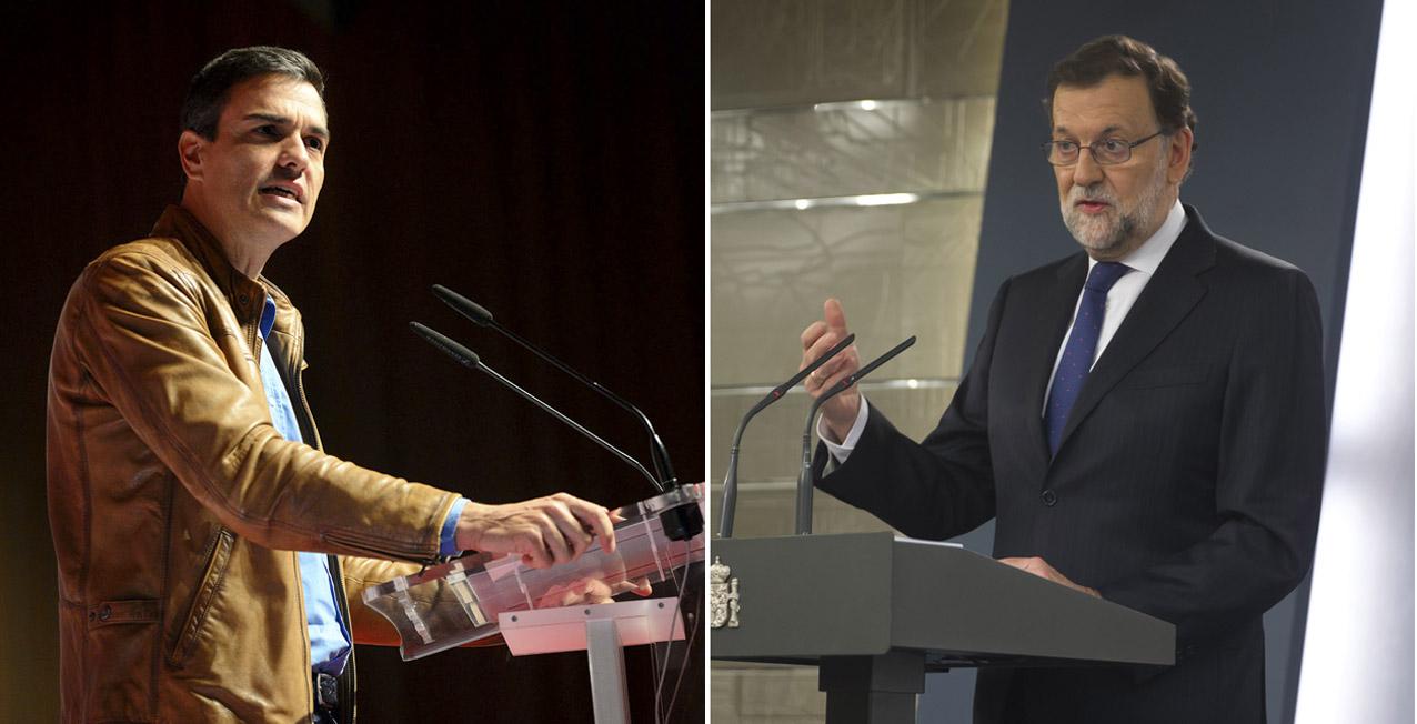 Pedro Sánchez y Mariano Rajoy.
