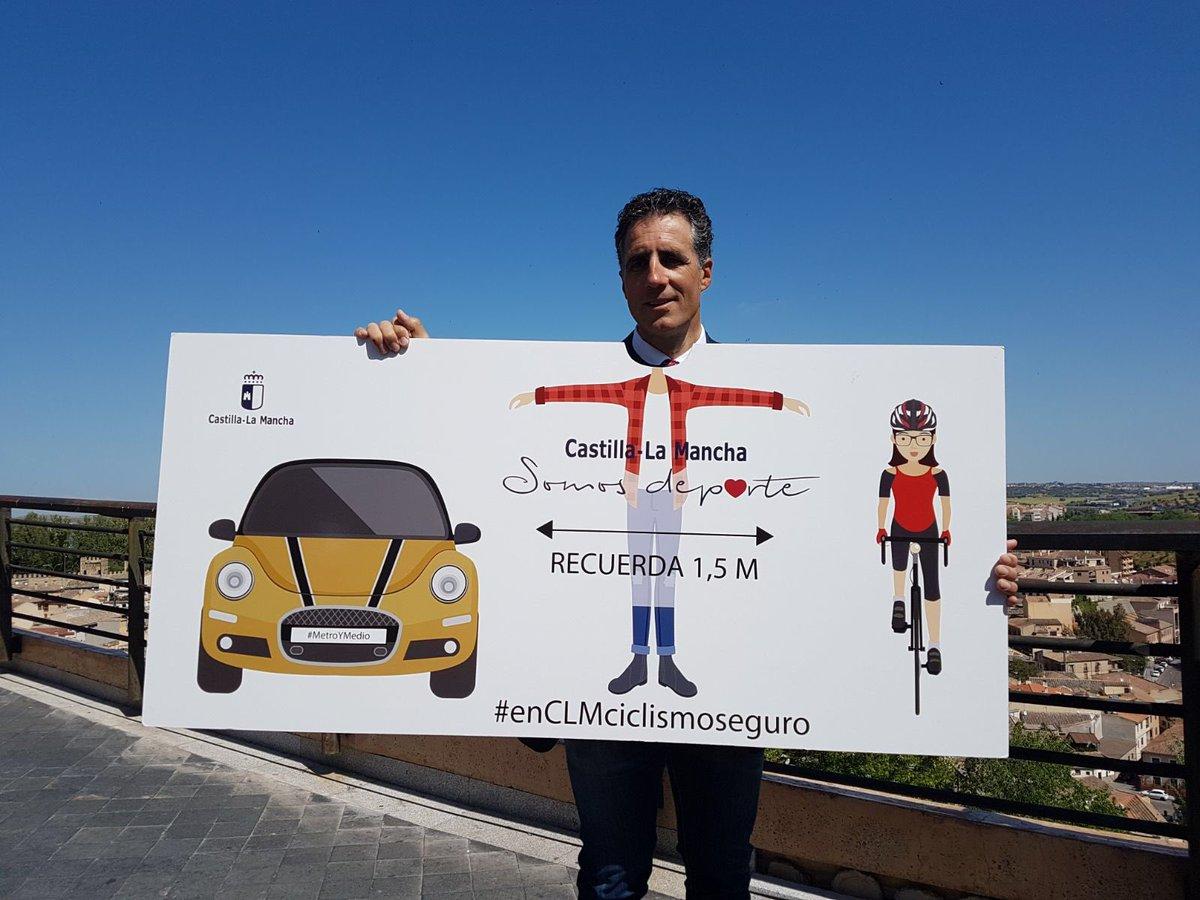 Miguel Induráis con la campaña #enCLMciclismoseguro