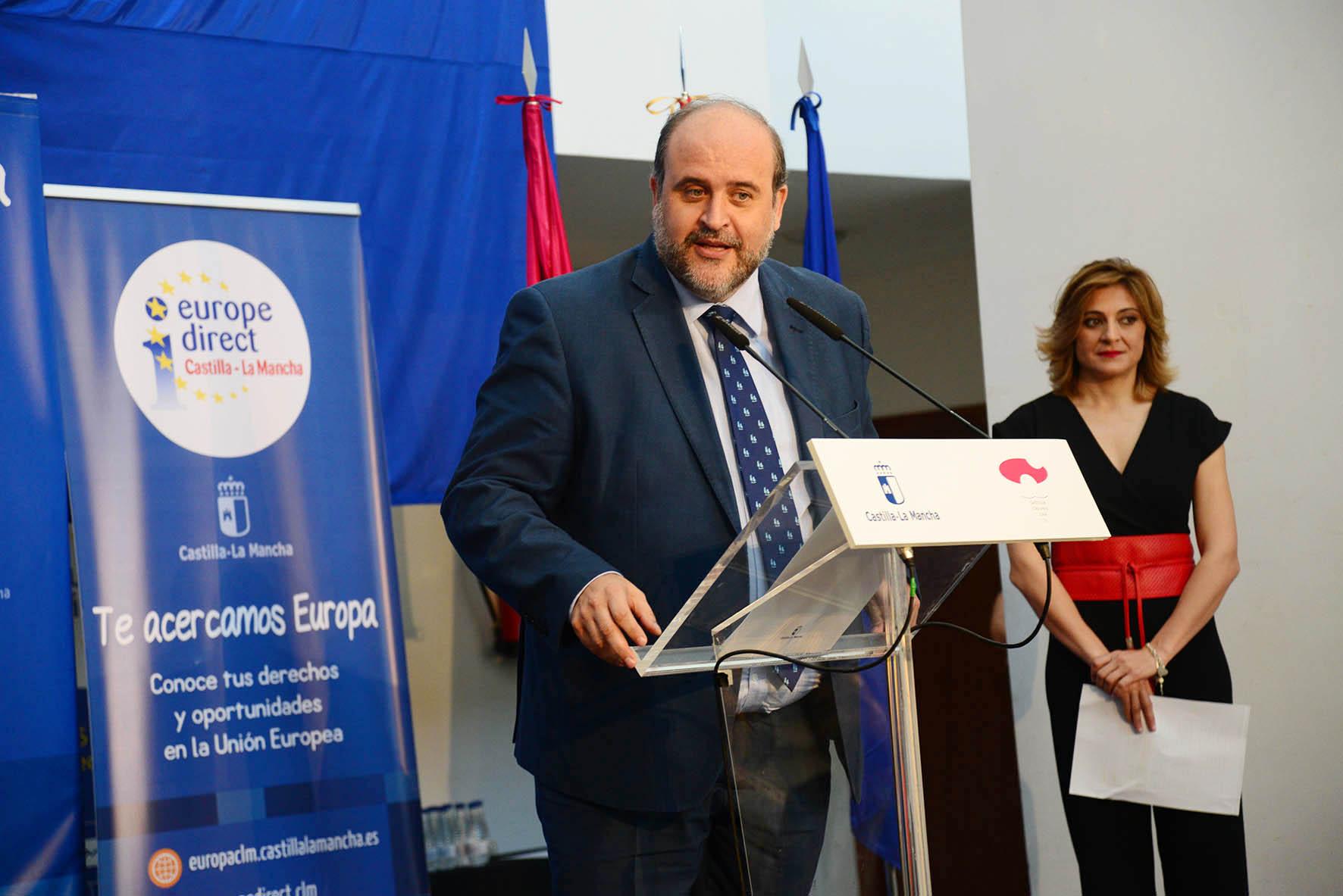 Martínez Guijarro en la celebración del Día de Europa, en Toledo.