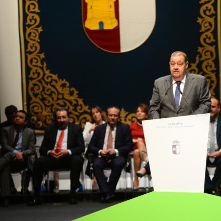 Jesús Fernández Vaquero, presidente de las Cortes, en el Día de Castilla-La Mancha