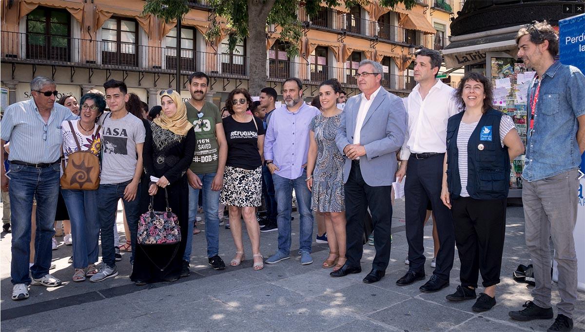 Un grupo de refugiados ha pedido solidaridad en Toledo