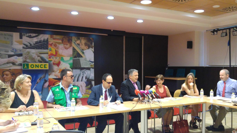 Rueda de prensa de la ONCE en su sede territorial de CLM, en Toledo.