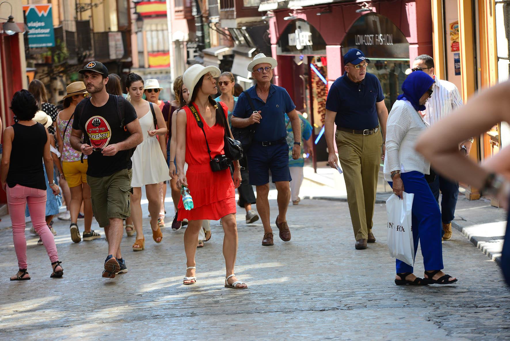 Imagen de archivo de Toledo, cuando los turistas poblaban sus calles.
