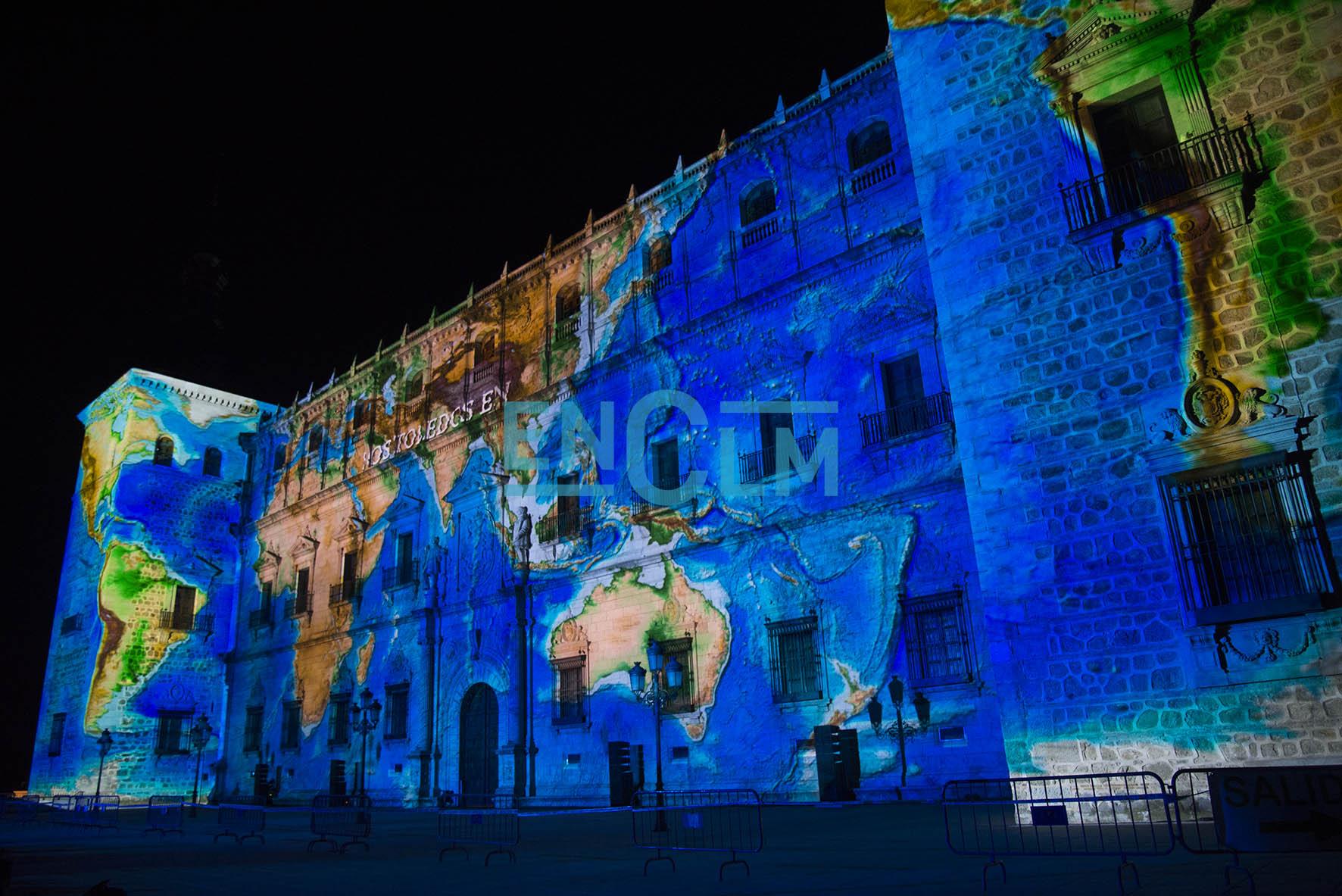 Luz Toledo se proyectará, como ya sucediera el año pasado, en la fachada norte del Alcázar.