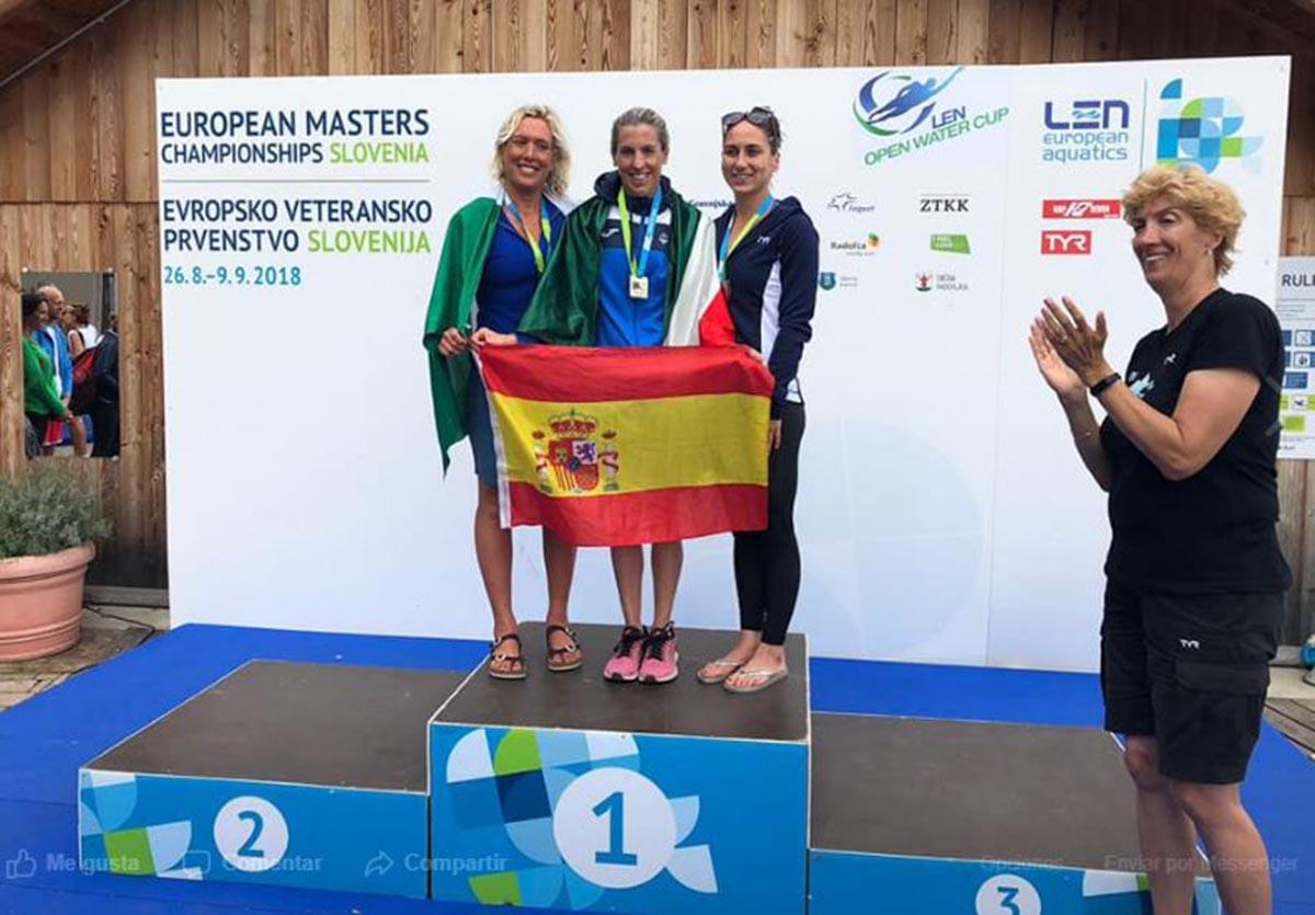 Rebeca, en lo más alto del podio europeo, en los 3.000