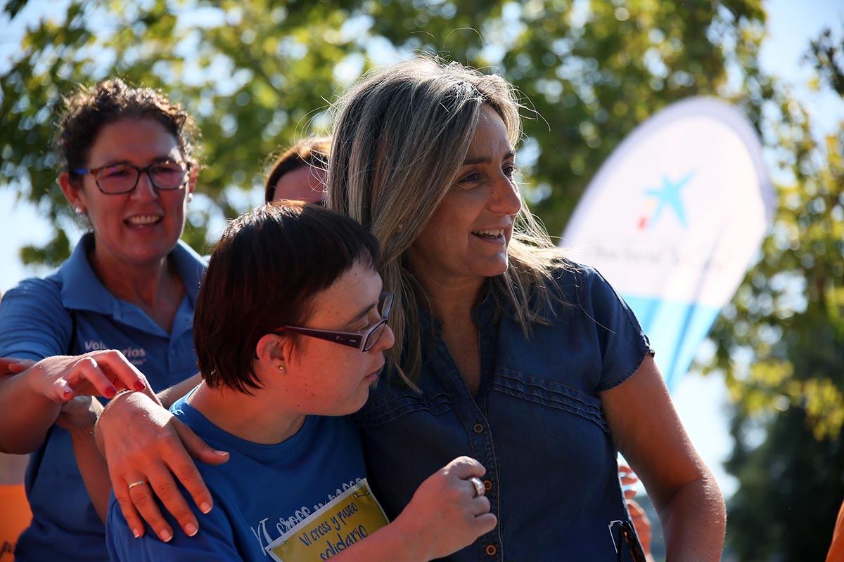Milagros Tolón compartió la jornada con la Asociación Down Toledo