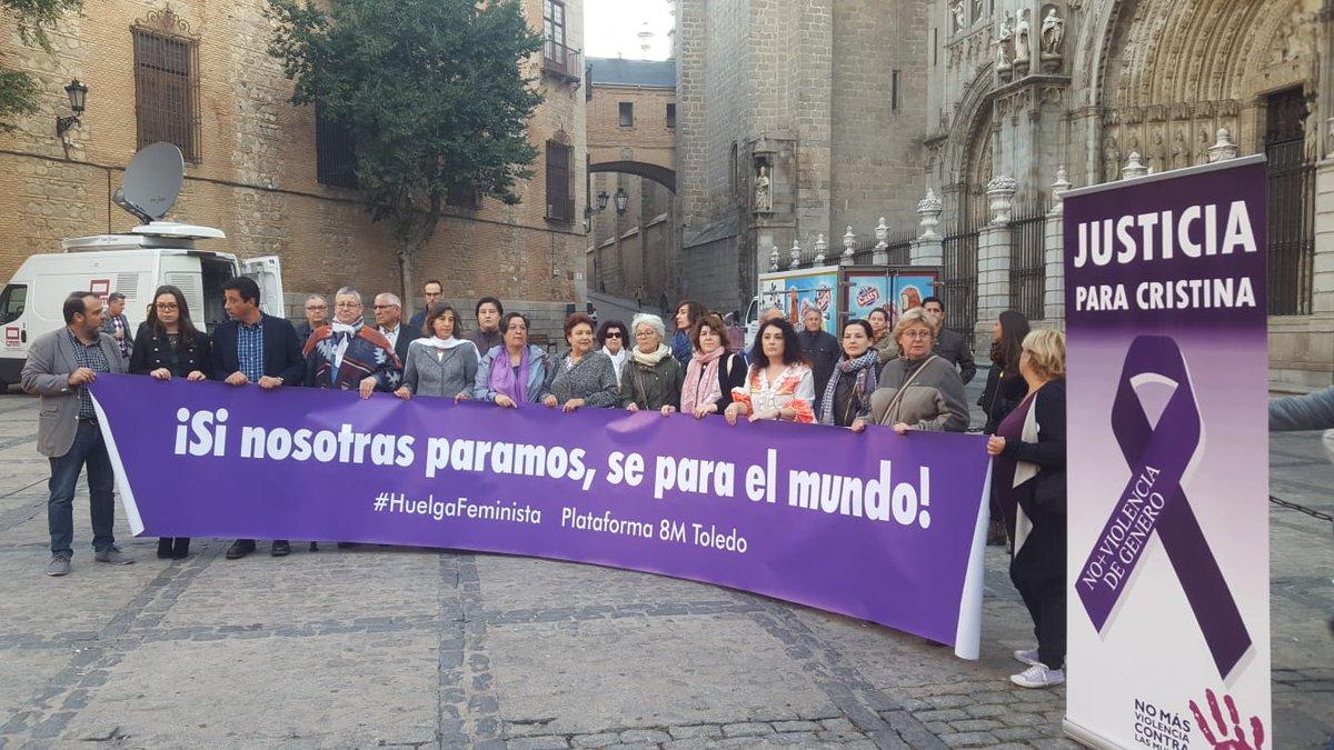 """Concentración en Toledo que pedía """"Justicia para Cristina"""" Mora"""