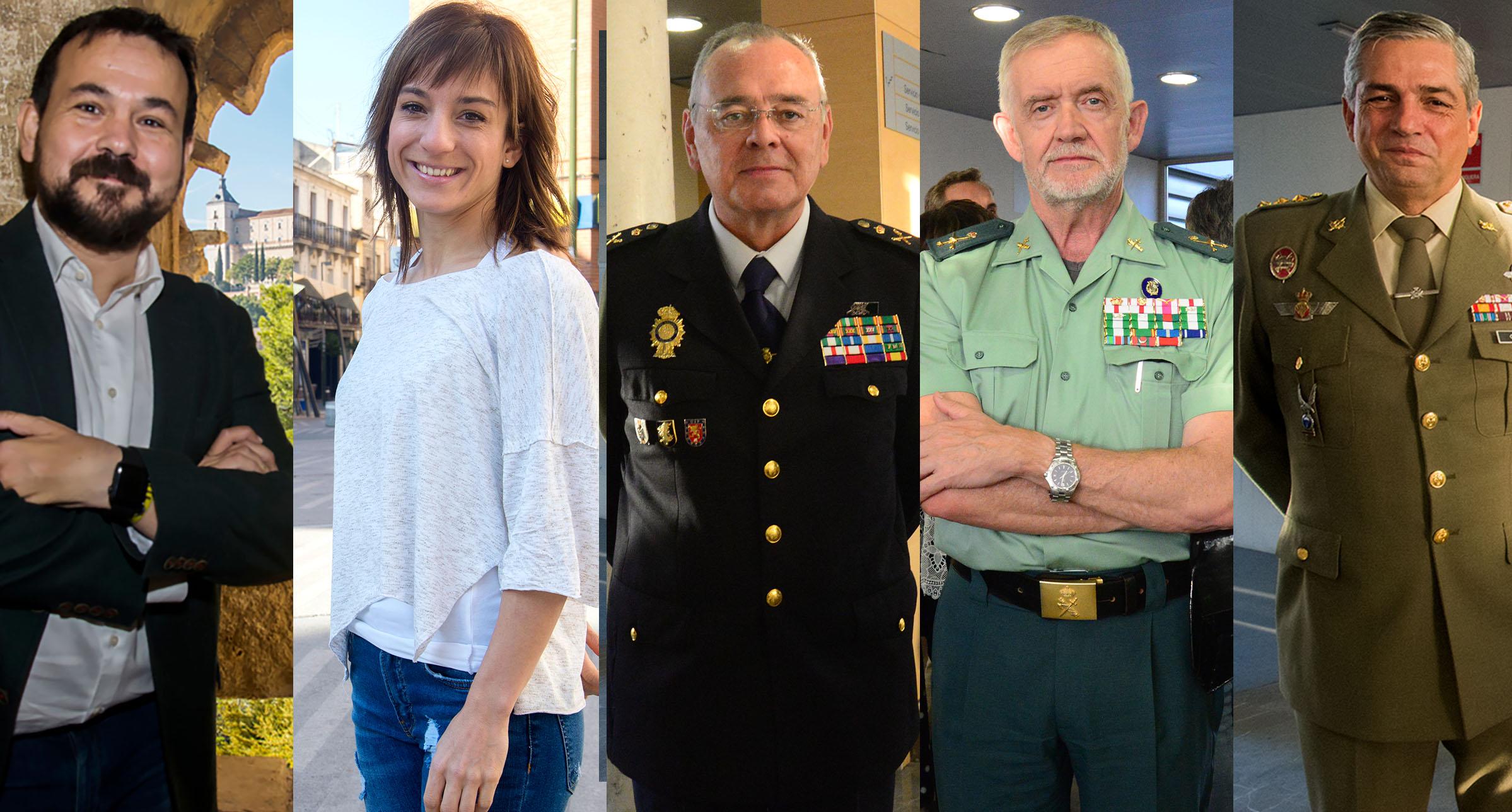 Juan Ramón Amores, Sandra Sánchez, Félix Antolín, Manuel Llamas y Javier Gallegos. encastillalamancha