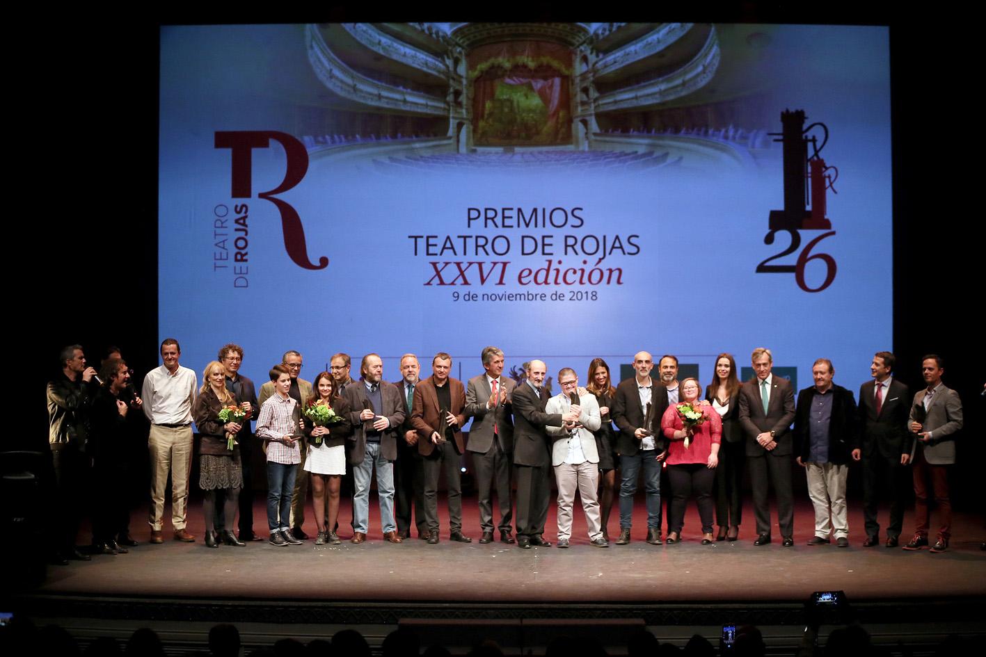 Todos los premiados, los patrocinadores y las autoridades.