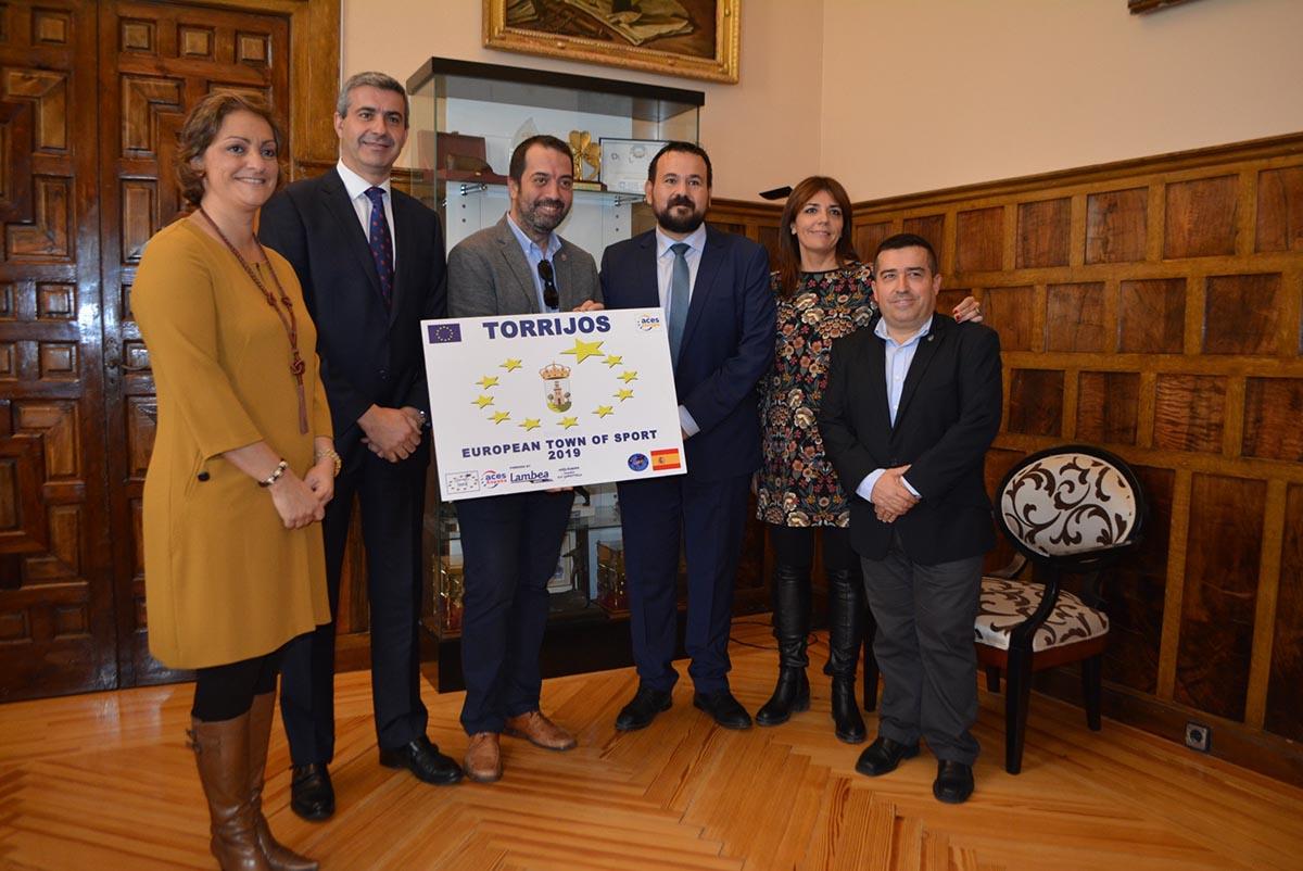 Foto del primer acto oficial de Torrijos como Villa Europea del Deporte 2019