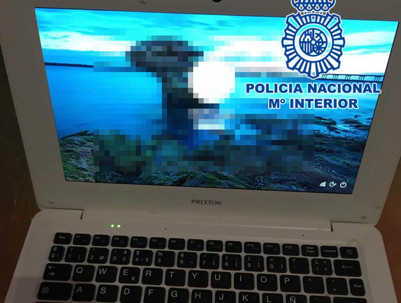 Imagen de un ordenador sustraído en Talavera.