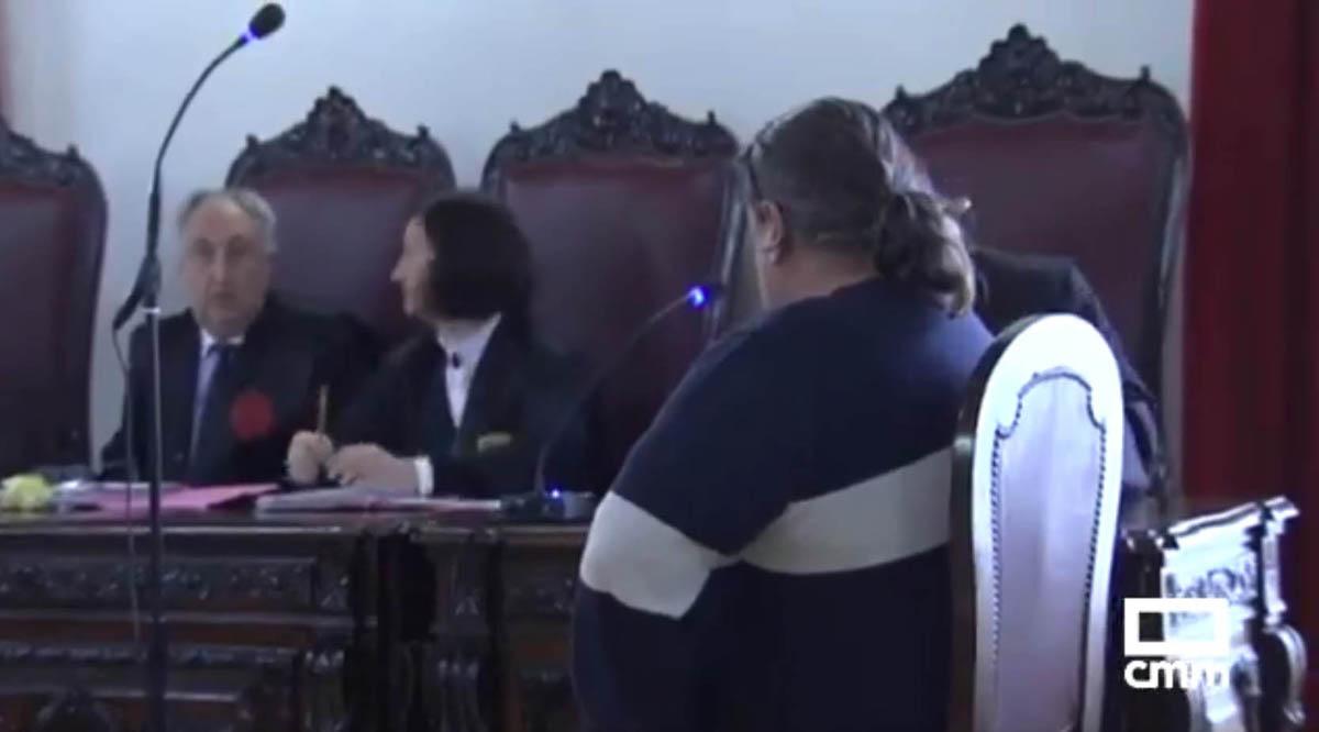 Foto del acusado durante el juicio en la Audiencia Provincial de Toledo. Foto: @CMM_es