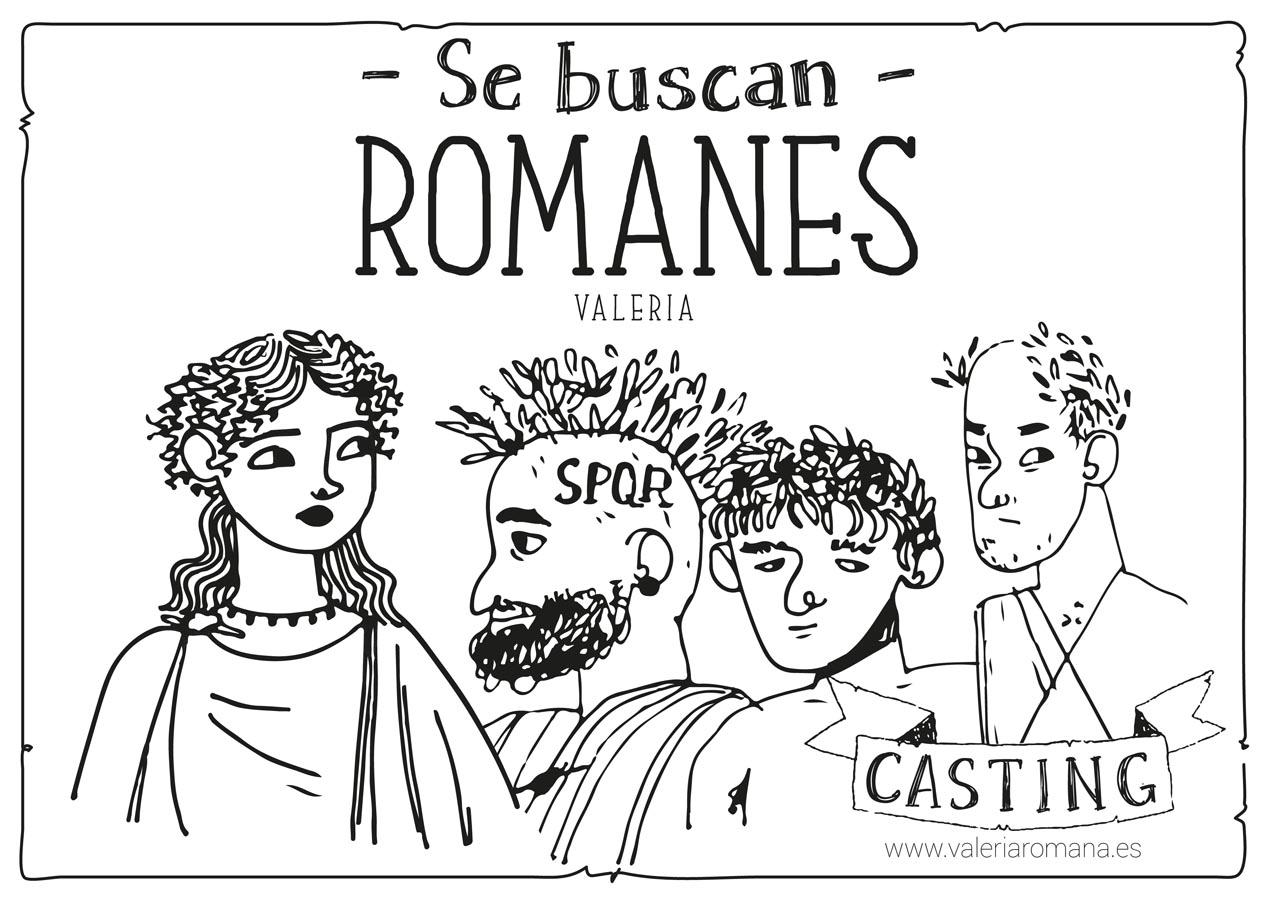 """Valeria busca """"romanes""""."""