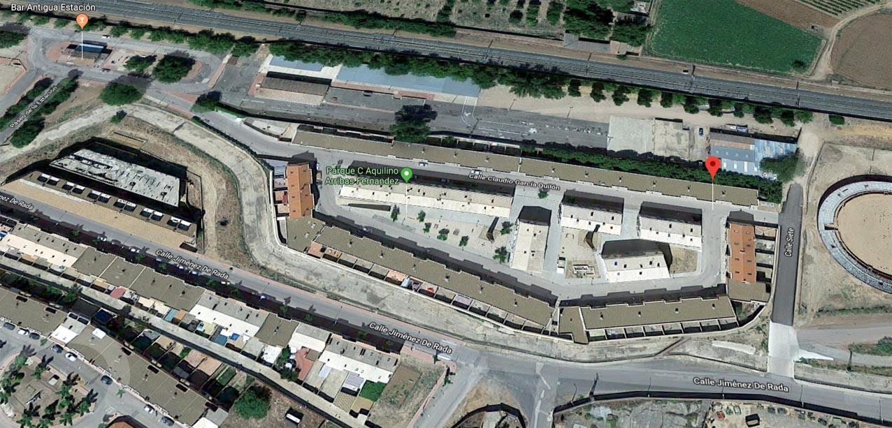 malagón Vista aérea de las viviendas que han tenido que ser desalojadas.