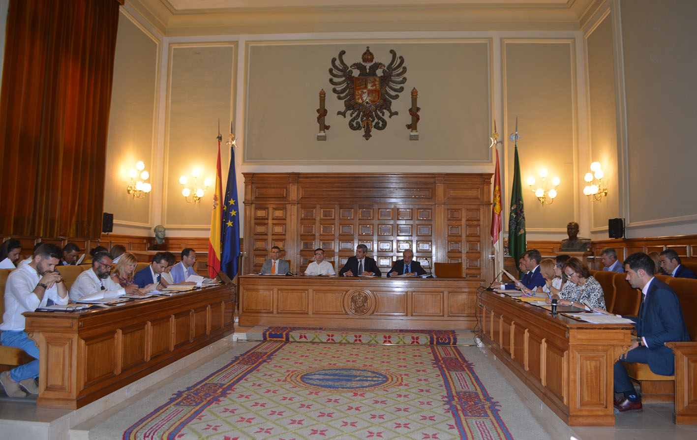 El nuevo Pleno de la Diputación de Toledo.