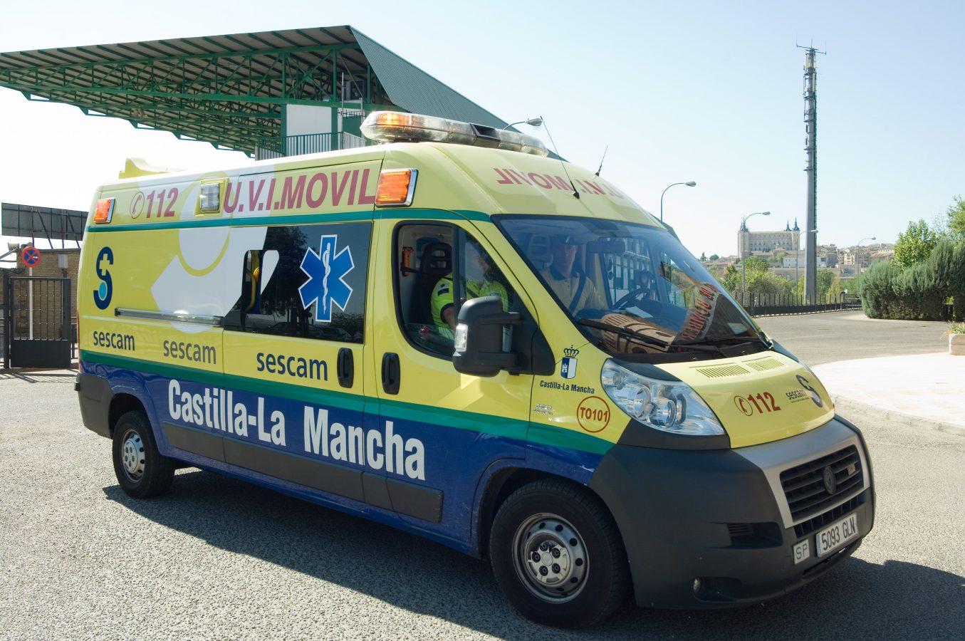 tarancón Imagen de archivo de una ambulancia del Sescam. villaseca carranque