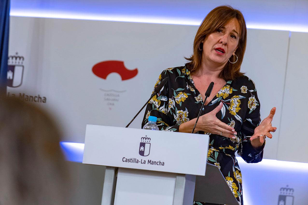 Blanca Fernández, consejera de Igualdad y portavoz del Gobierno de Castilla La-Mancha.