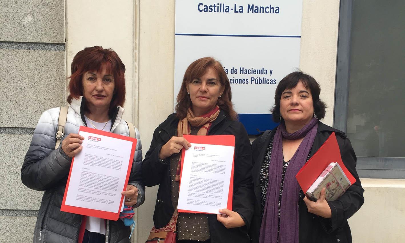 CCOO ha enviado una carta al consejero Ruiz Molina.