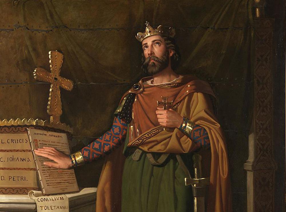 Cuadro del rey Recaredo.