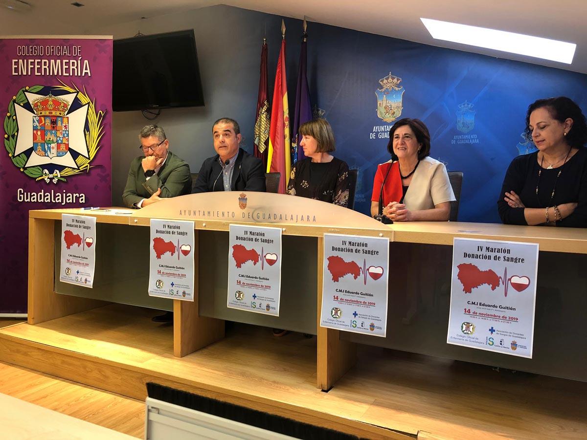 Rueda de prensa donde se informó del IV Maratón de Sangre de Guadalajara