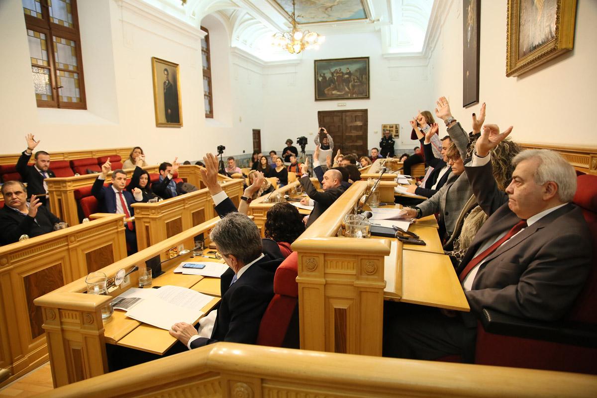 Pleno ordinario del mes de enero del Ayuntamiento de Toledo.