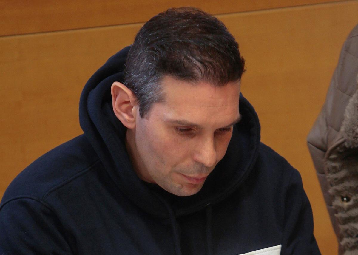 El acusado de asesinar a su pareja en Azuqueca durante el juicio en la Audiencia Provincial de Guadalajara.