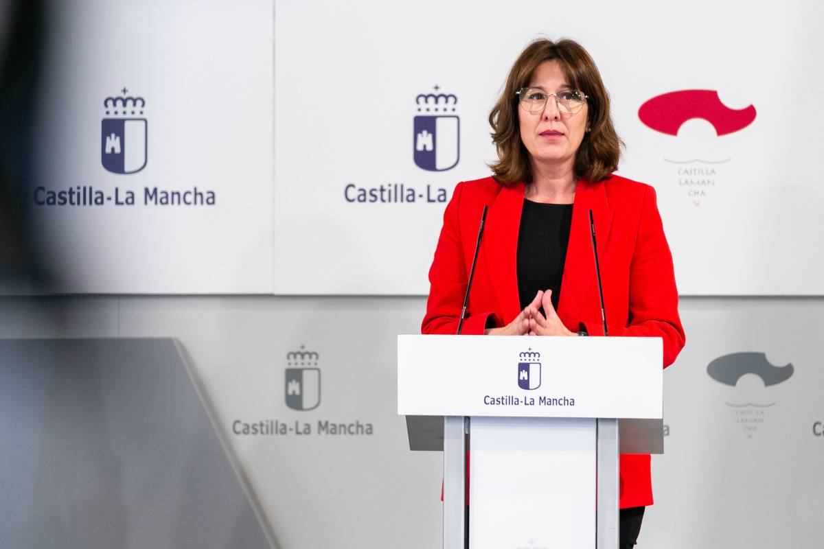 Rueda de prensa de Blanca Fernández, portavoz del Gobierno de CLM.