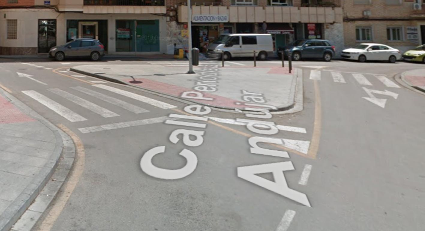 Calle Periodista Antonio Andújar, en Hellín, donde ocurrió la agresión.