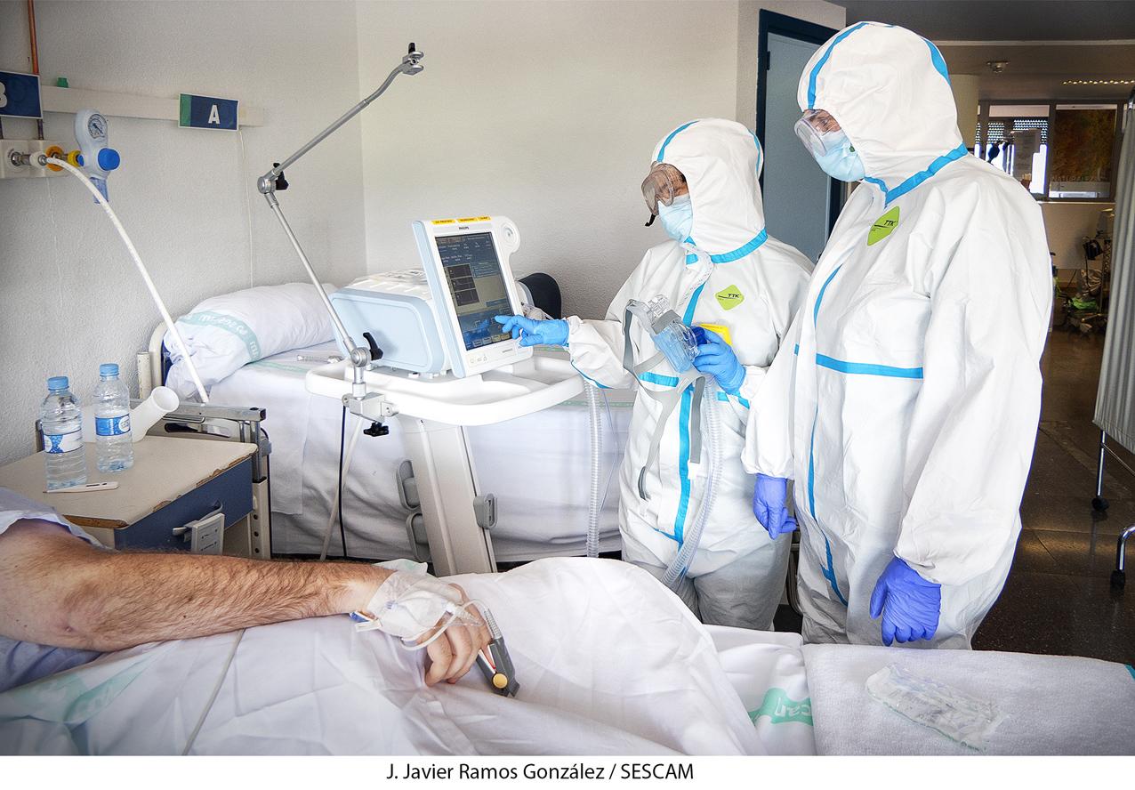 Unidad de Cuidados Intermedios del hospital de Guadalajara.