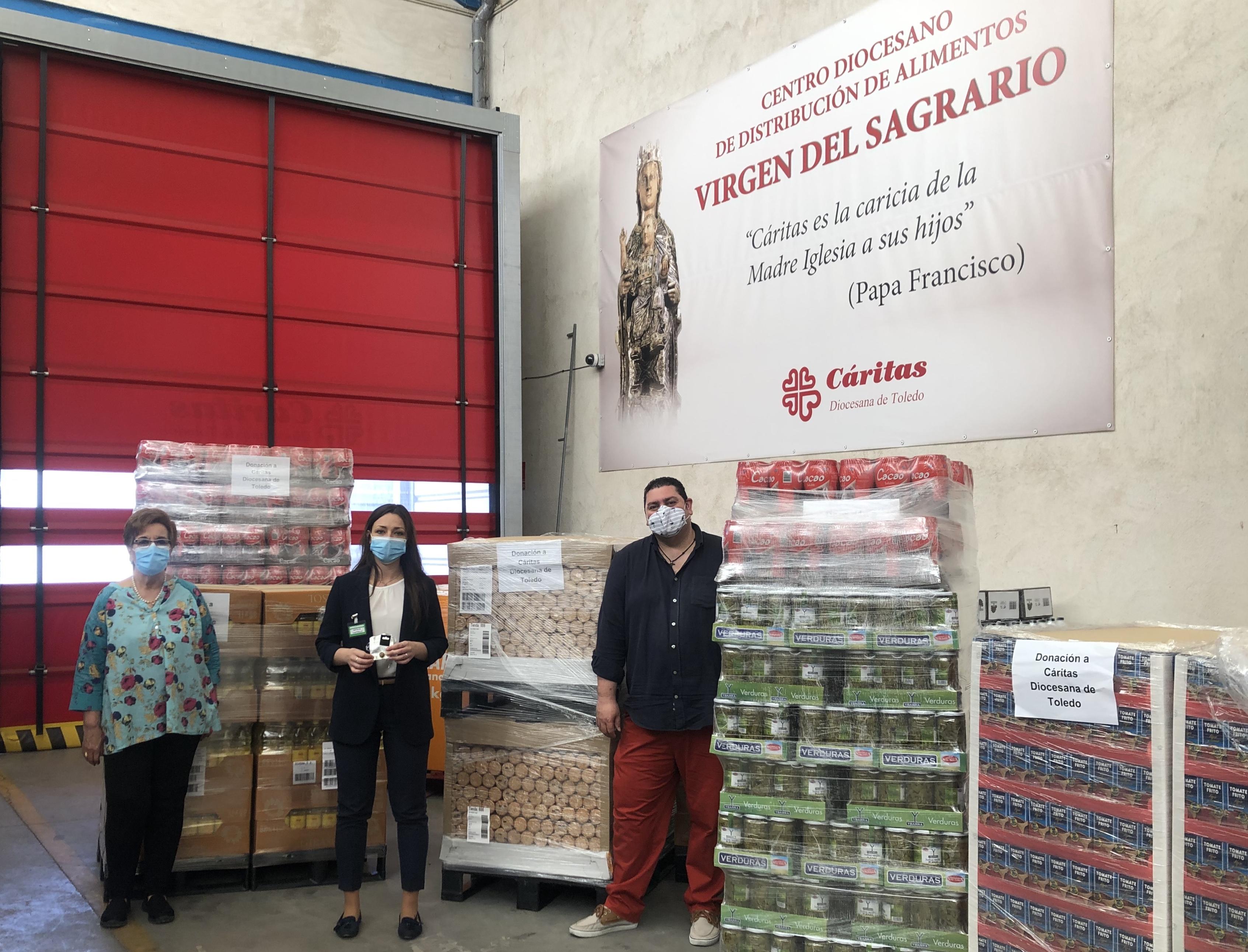 Mercadona ha donado a Cáritas Toledo más de siete toneladas de productos.
