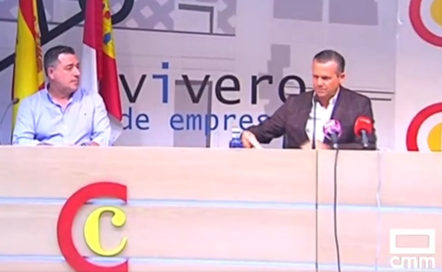José Antonio Dorado y César Muñiz Fernández han presentado el nuevo proyecto del CF Talavera.