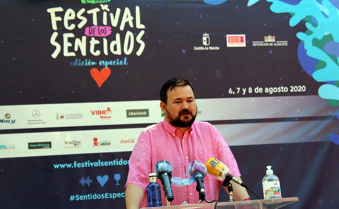 Juan Ramón Amores, alcalde de La Roda, ha presentado el Festival de los Sentidos.